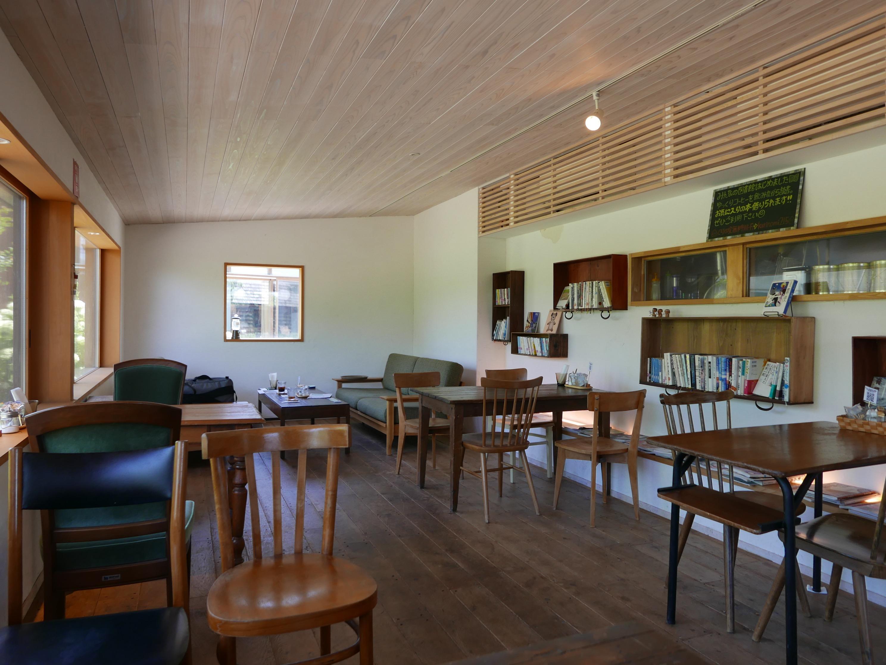 カフェの内部